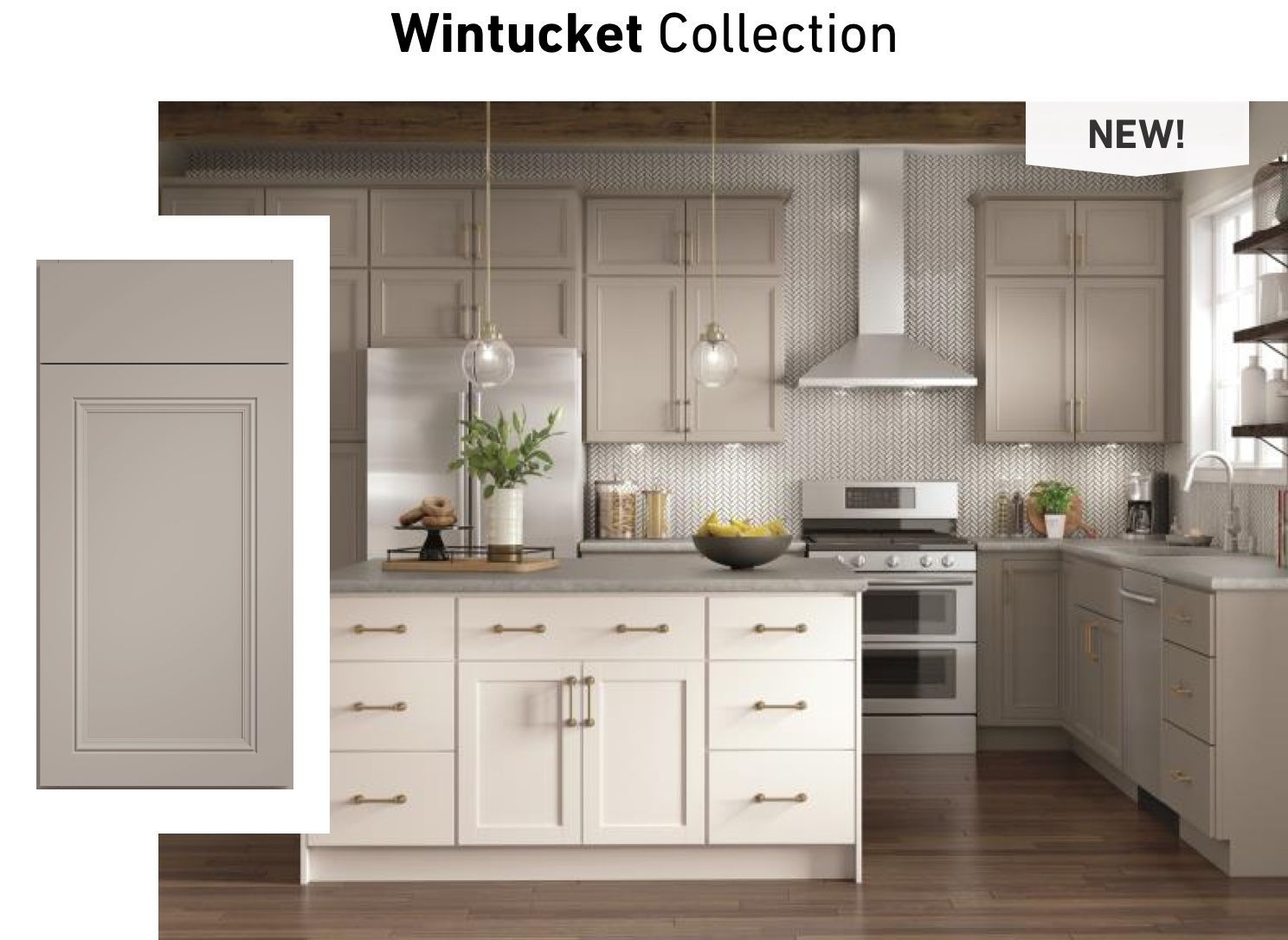 A Kitchen Featuring The Wintucket Collection Kitchen Cabinets Lowes Kitchen Cabinets Kitchen Design