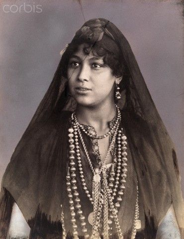 Portrait of a young woman.  Tangier, Morocco.  Historical photo | © David G Fairchild