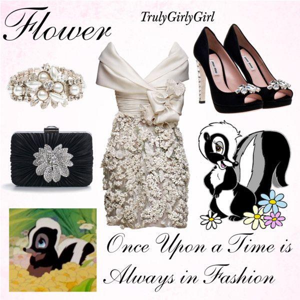 Disney Style: Flower, created by trulygirlygirl on Polyvore