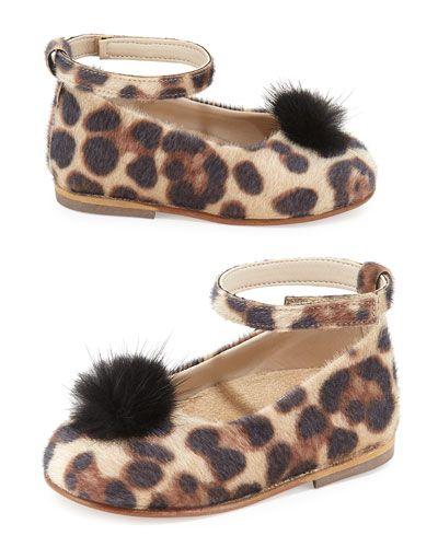 5db1b9565e6d Z1G42 Babywalker Leopard-Print Faux-Fur Ballet Flat