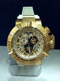 9ea8e7d6e7a Relogio J5435 Invicta Bolt Zeus Skeleton Dourado Caixa - R  699