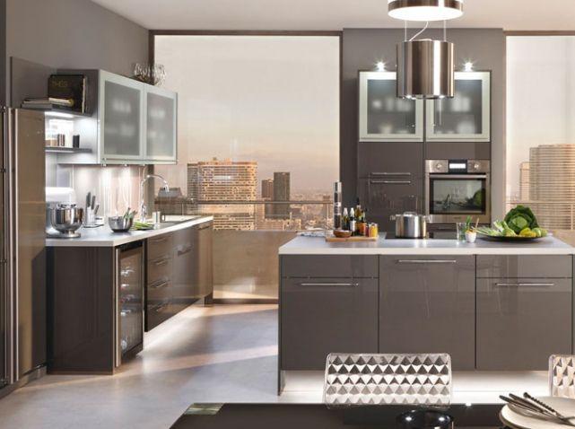 Cuisine design meubles laqu s conforama cuisine for Design cuisine 3d
