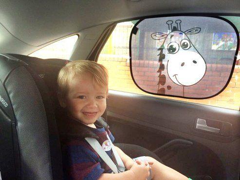 2pcs Car Sun Shades Premium Giraffe Design Block Uv Rays Best