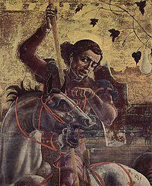 Ante dell'organo del duomo di Ferrara - Cosme Tura - San Giorgio e il cavallo