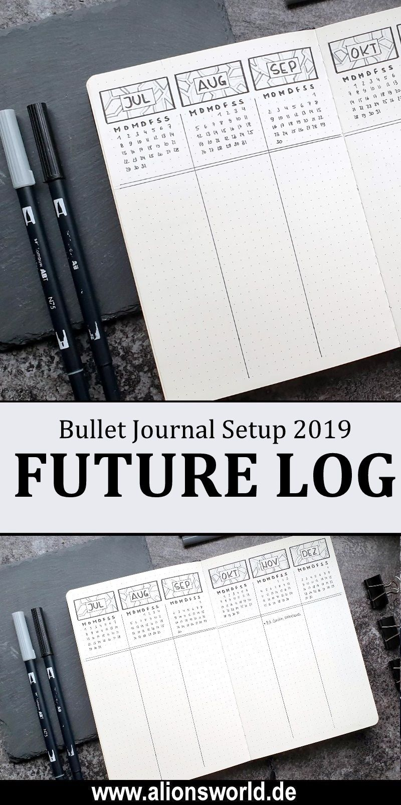 Bullet Journal 2019 - Future Log #augustbulletjournal