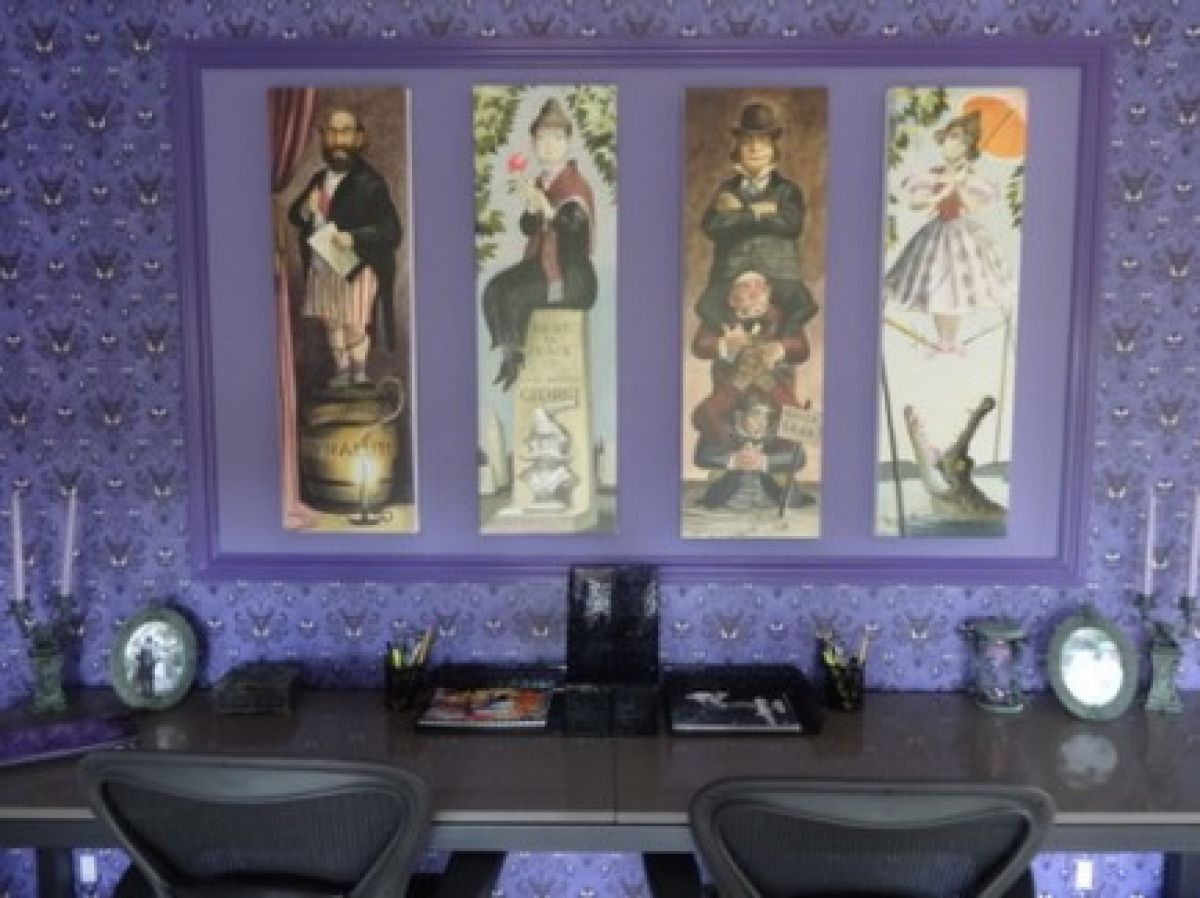 Dream room a disney haunted mansion bedroom geeky home for Wallpaper home goods