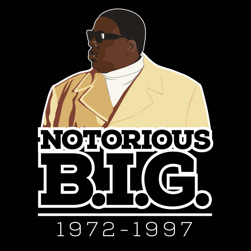 Vector Portrait Of Christopher Notorious B I G Wallace Notorious Big Notorious Big