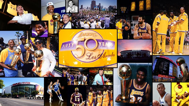 50 Years Of Laker Basketball Lakers Win Lakers Basketball Lakers