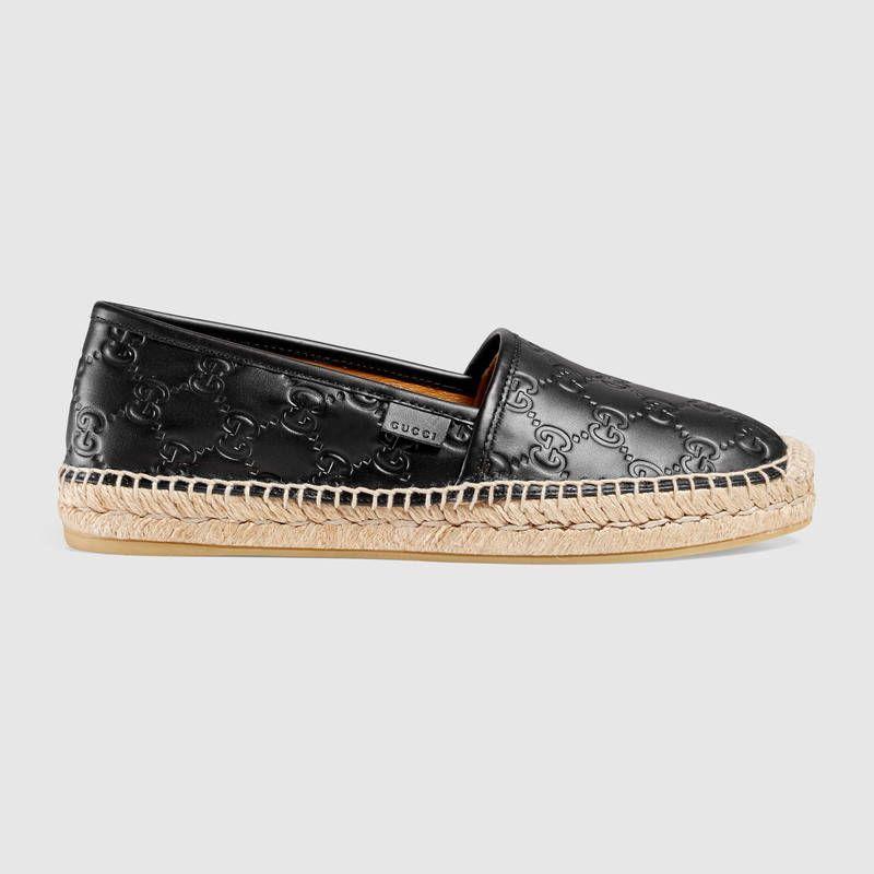 Gucci Signature leather espadrille Size