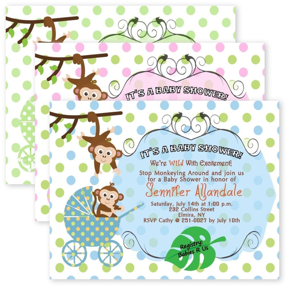 Baby Boy Jungle Invitations, Baby Boy Safari Invitation, Baby Boy ...