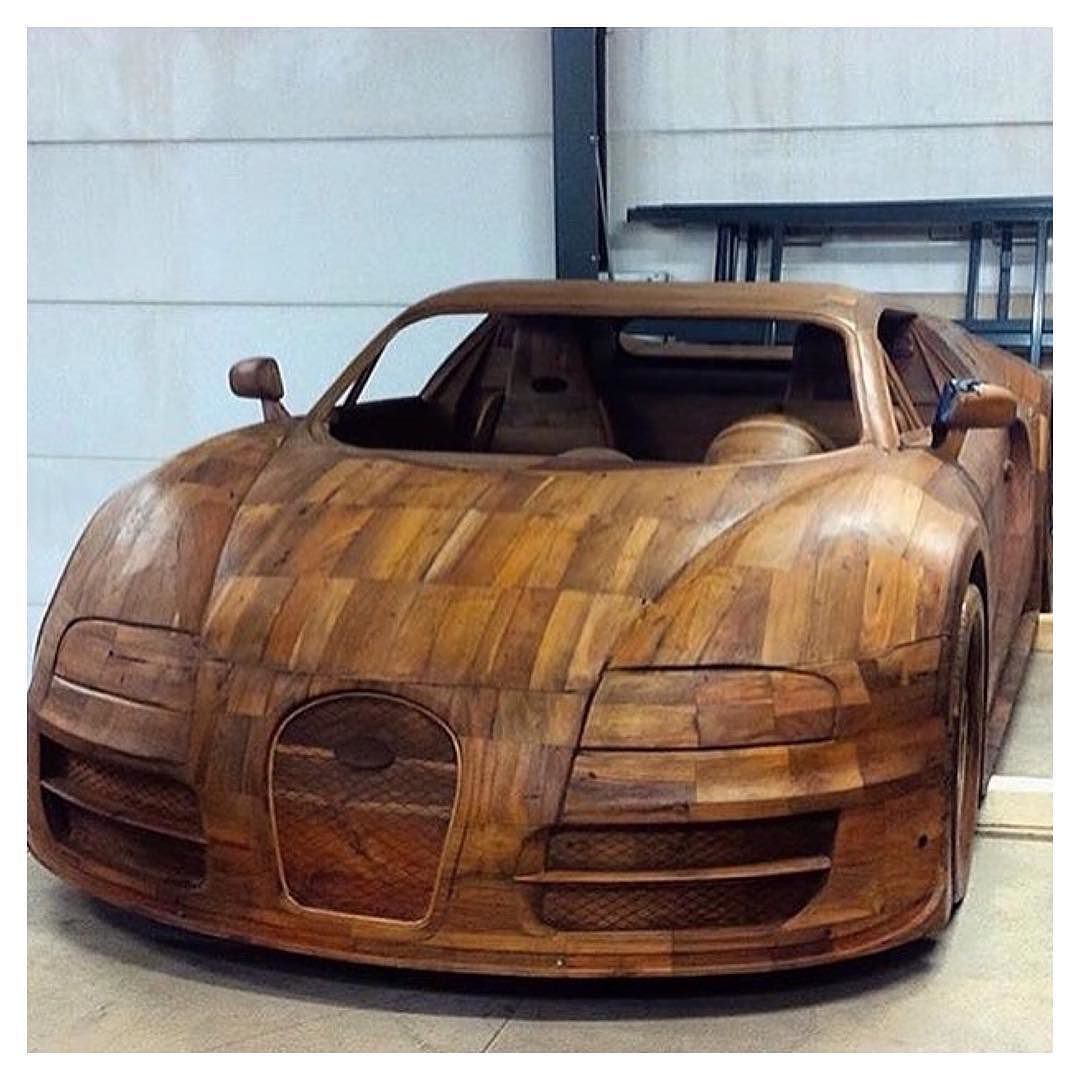 Handcrafted Wooden Bugatti Veyron Can You Guess The Price