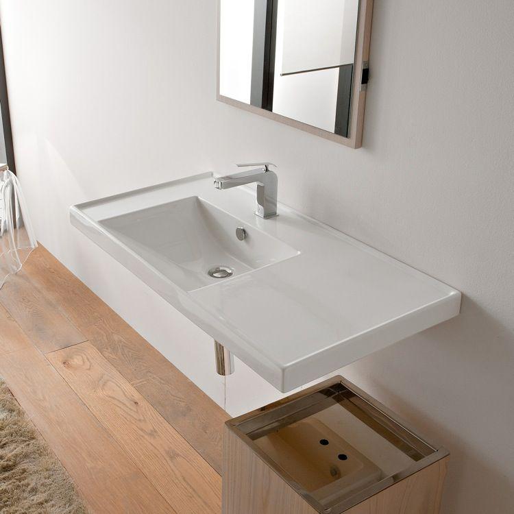 scarabeo 3008 wall mount bathroom sink | wall mounted bathroom