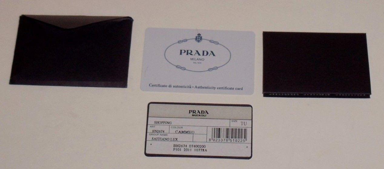 16accc6a9e5dbd EXCELLENT Prada Cammeo Saffiano Lux Leather Double Zip Large Tote Bag  BN2674 $595.0