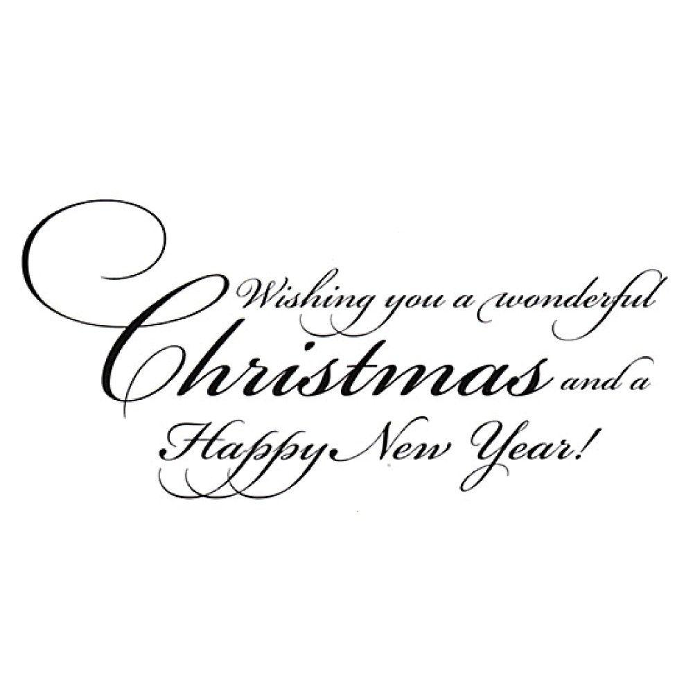 New Penny Black BEAUTIFUL SEASON Wood Rubber Stamp Christmas Verse New Year