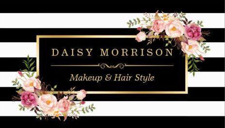 Makeup artist beauty salon gold vintage floral business cards http makeup artist beauty salon gold vintage floral business cards reheart Image collections
