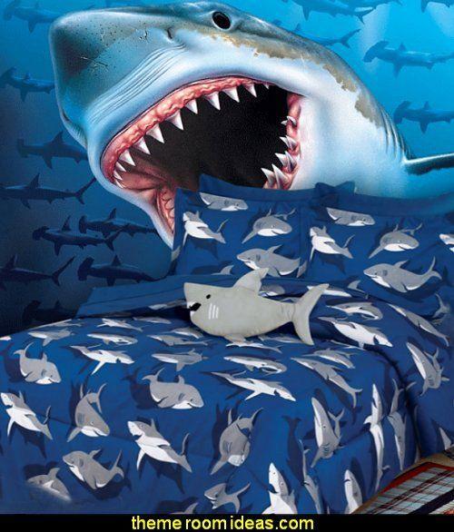 19 shark decor for bedroom in 2020  shark bedroom shark