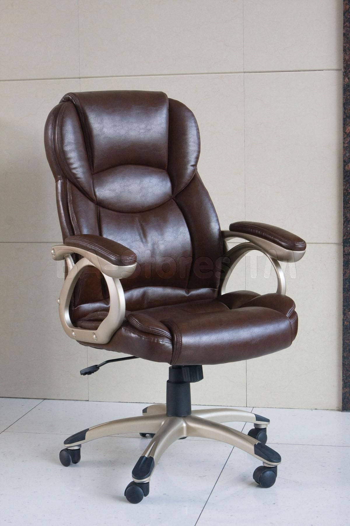 Barton Brown Bycast Leather Office Chair Stylish office