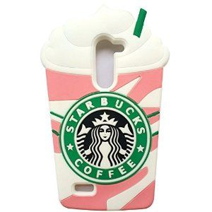 Amazon.com: LG K10 Case,LG K10 Starbucks Case,LG Premier Case,MANBO Delicious Cartoon Starbucks Cream Soft Silicon Gel Back Cover Case For LG K10 / LG Premier LTE L62VL L61AL (2016) [Strawberry]: Cell Phones & Accessories