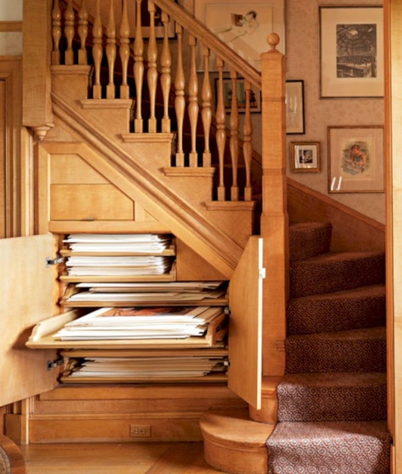 brilliant ideas for that space under the stairs spaces