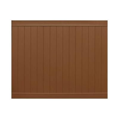 Veranda Pro Series 6 Ft H X 8 Ft W Brown Vinyl Anaheim Privacy Fence Panel Unassembled 153572 The Home Depot Privacy Fence Panels Vinyl Fence Panels Fence Panels