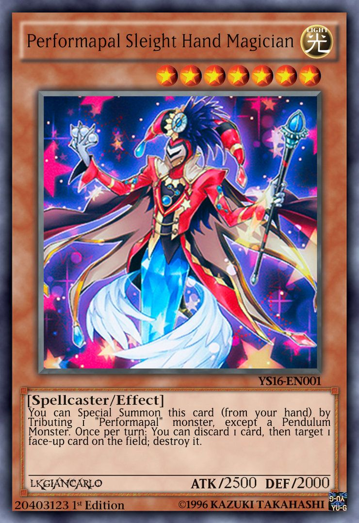 performapal sleight hand magician carta normal by lkgiancarlo