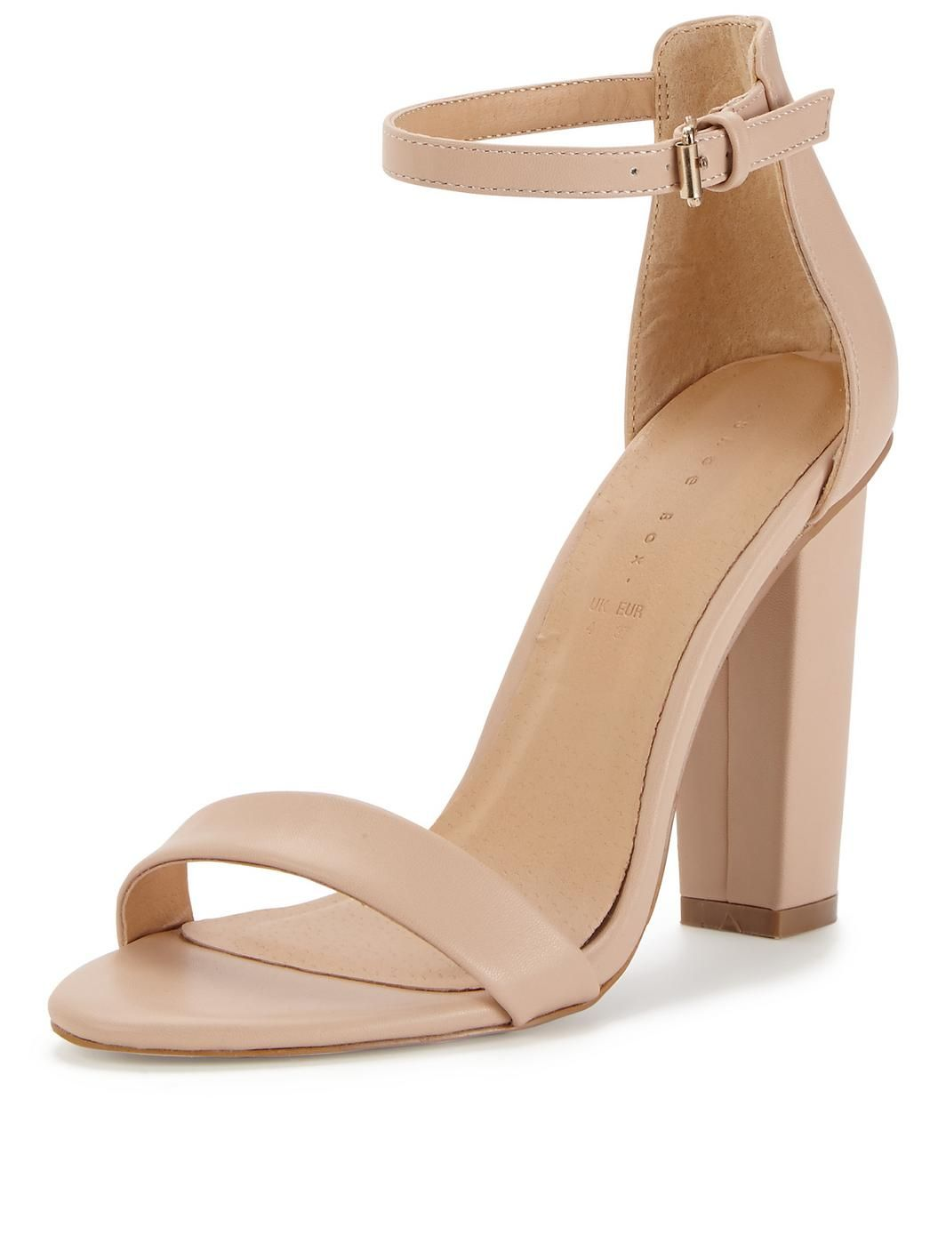 Nude Block Heel Sandals | Flat shoes, Flats and Summer