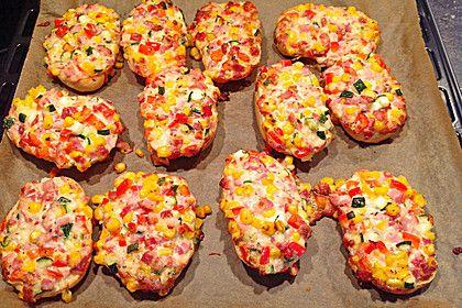 Superschnelle Pizzabrötchen 20 #schnellepartyrezepte