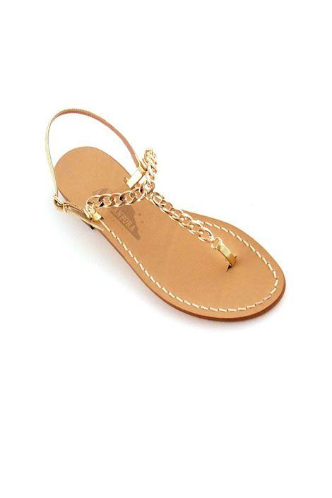 Canfora Gold Chain Sandal Sandals Summer Sandals Flat Sandals