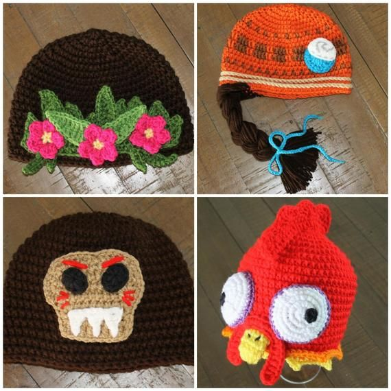 Moana Inspired Crochet Hats - Handmade to Order - Newborn to Adult ... 15397706259