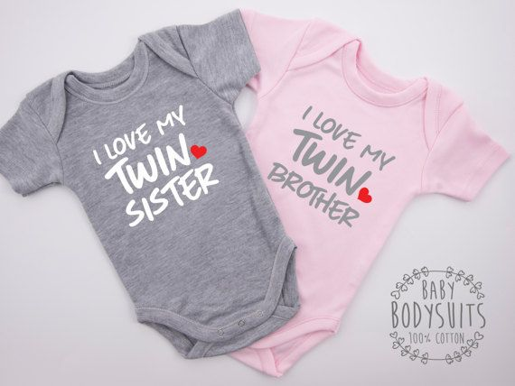1f8246b96d0c8 I LOVE MY TWIN SISTER & I LOVE MY TWIN BROTHER Twin Boy and Girl ...