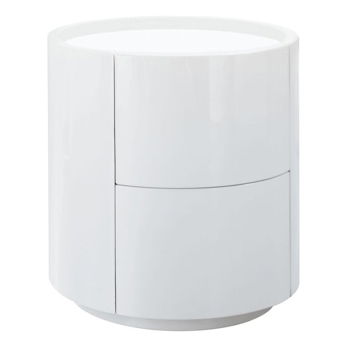 sphere gloss bedside table white side tables pinterest bedside rh pinterest com