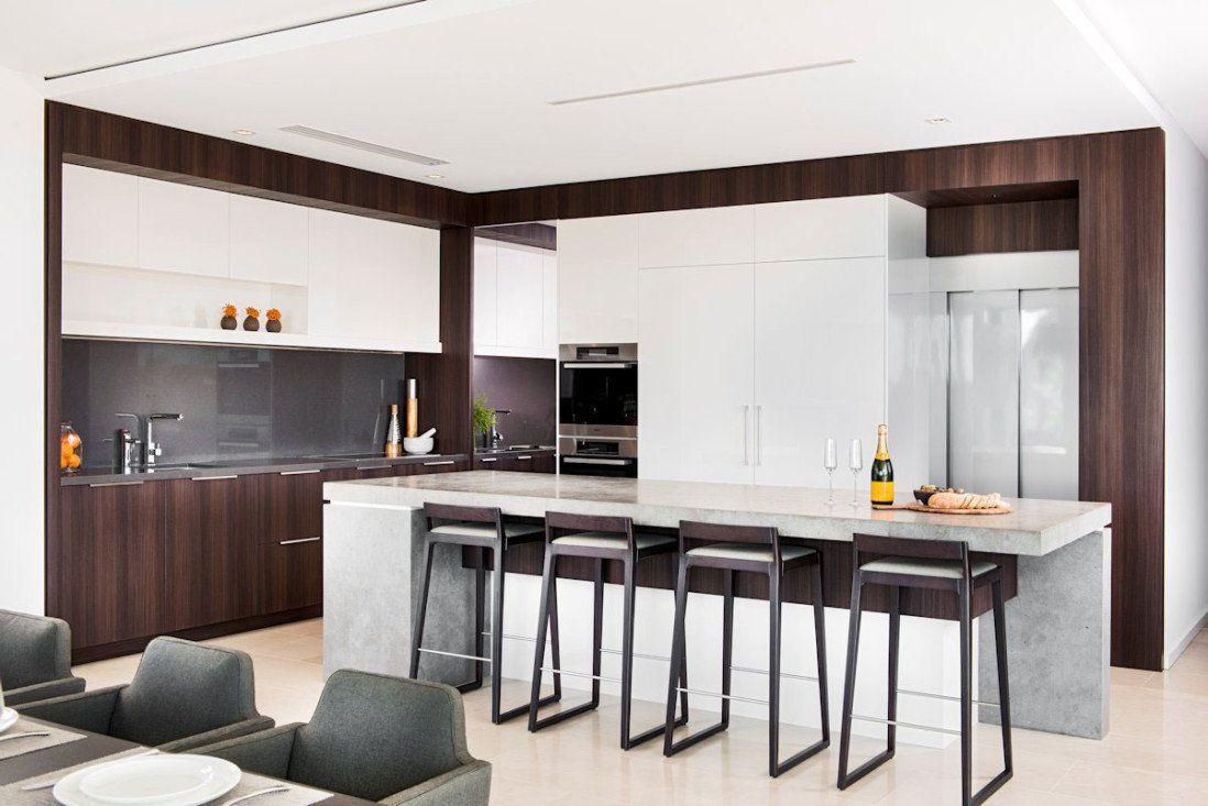 Cucina Moderna Bianca E Legno Scuro.100 Idee Di Cucine Moderne Con Elementi In Legno Cucine