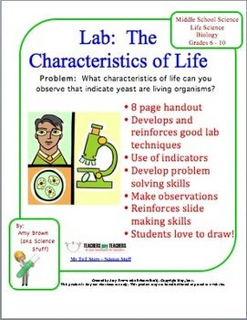 Worksheets Characteristics Of Life Worksheet biology lab characteristics of life in this lesson plan you will work