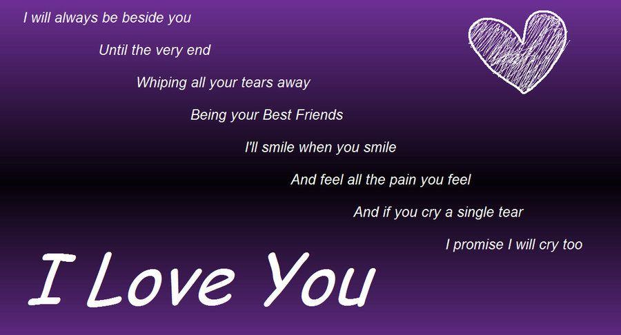 Purple I Love You Daughter