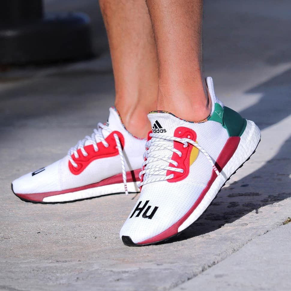 47b07c5de07de he Pharrell Williams x adidas Solar Hu Glide ST slides on to the scene in  white. Hit the link in bio for an on-foot look!