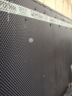 Superseal S Dimpled Membrane After Installation A