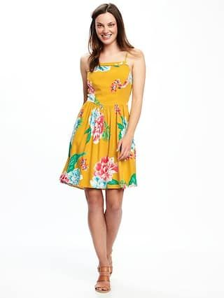bfdffc5e555 Yellow Floral Fit   Flare Cami Dress for Women from Old Navy ...