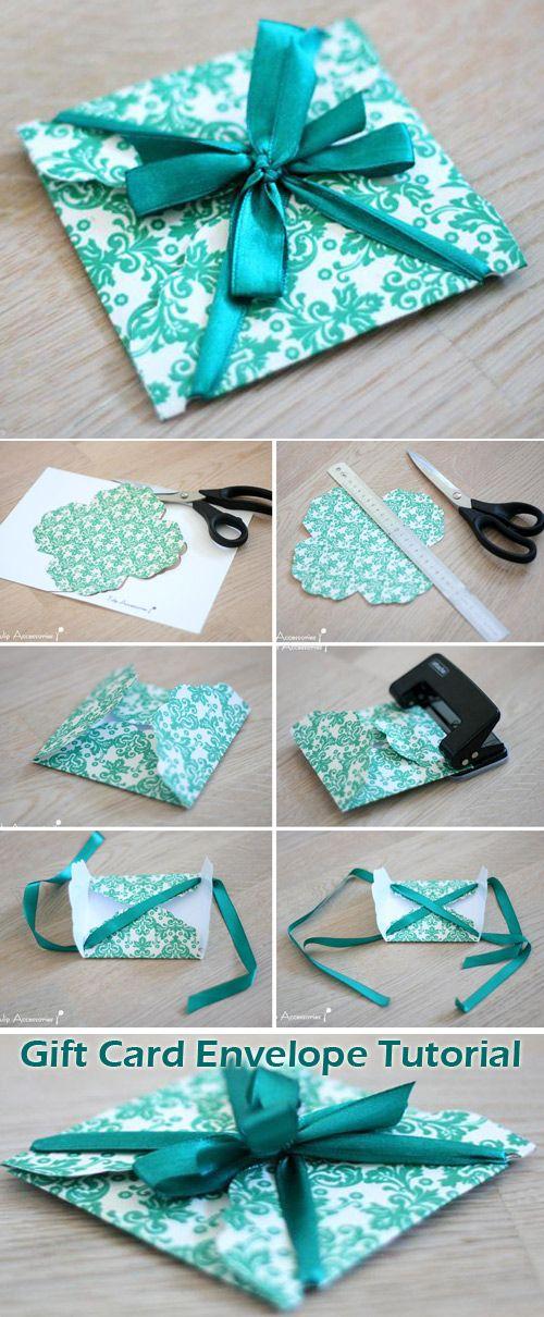 gift card envelope tutorial templates  gift card envelope