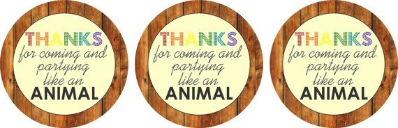 INSTANT DOWNLOAD  Noah's Ark Birthday Party Favor by PartyMyWay, $5.00