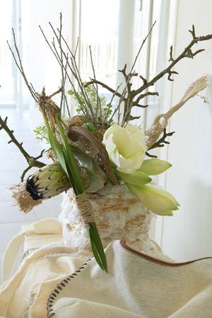 Bouquets d 39 amaryllis branchage compositions florales et for Les amaryllis fleurs