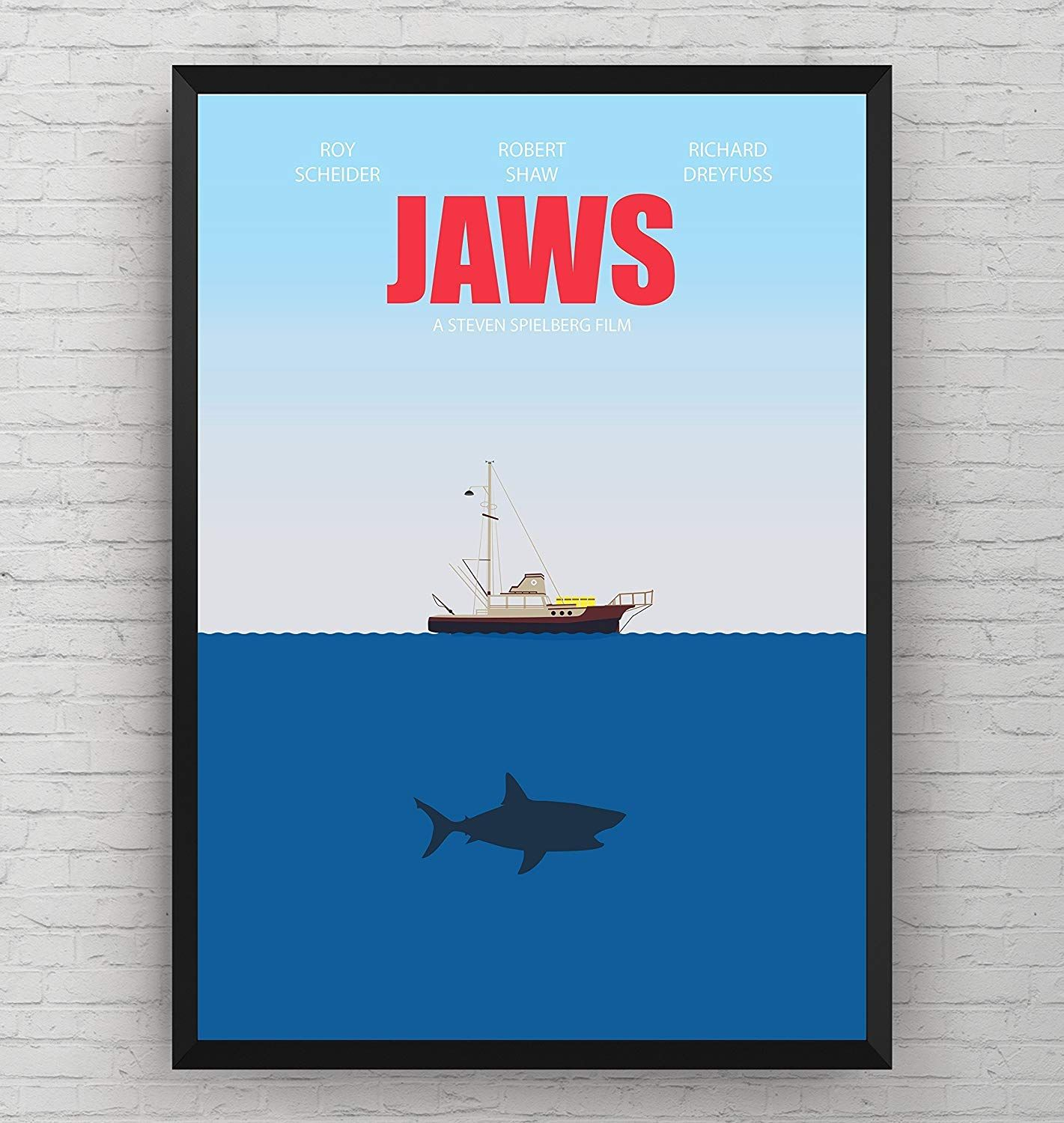Buy It Now Jaws Poster Movie Wall Art Print Decor Film Room Gift Frame Not Included Handmade Movie Wall Art Wall Art Prints Movie Art