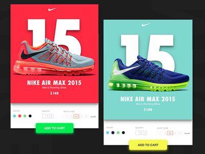 Nike Cards Nike Nike Air Max 2015 Mobile App Design