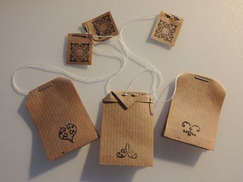 Tea Bag Tag Template Tea Bag Shaped Gift Tags  Tea Favors