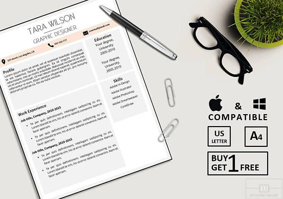 Professional Resume Template Resume Template for Word CV ***SELL