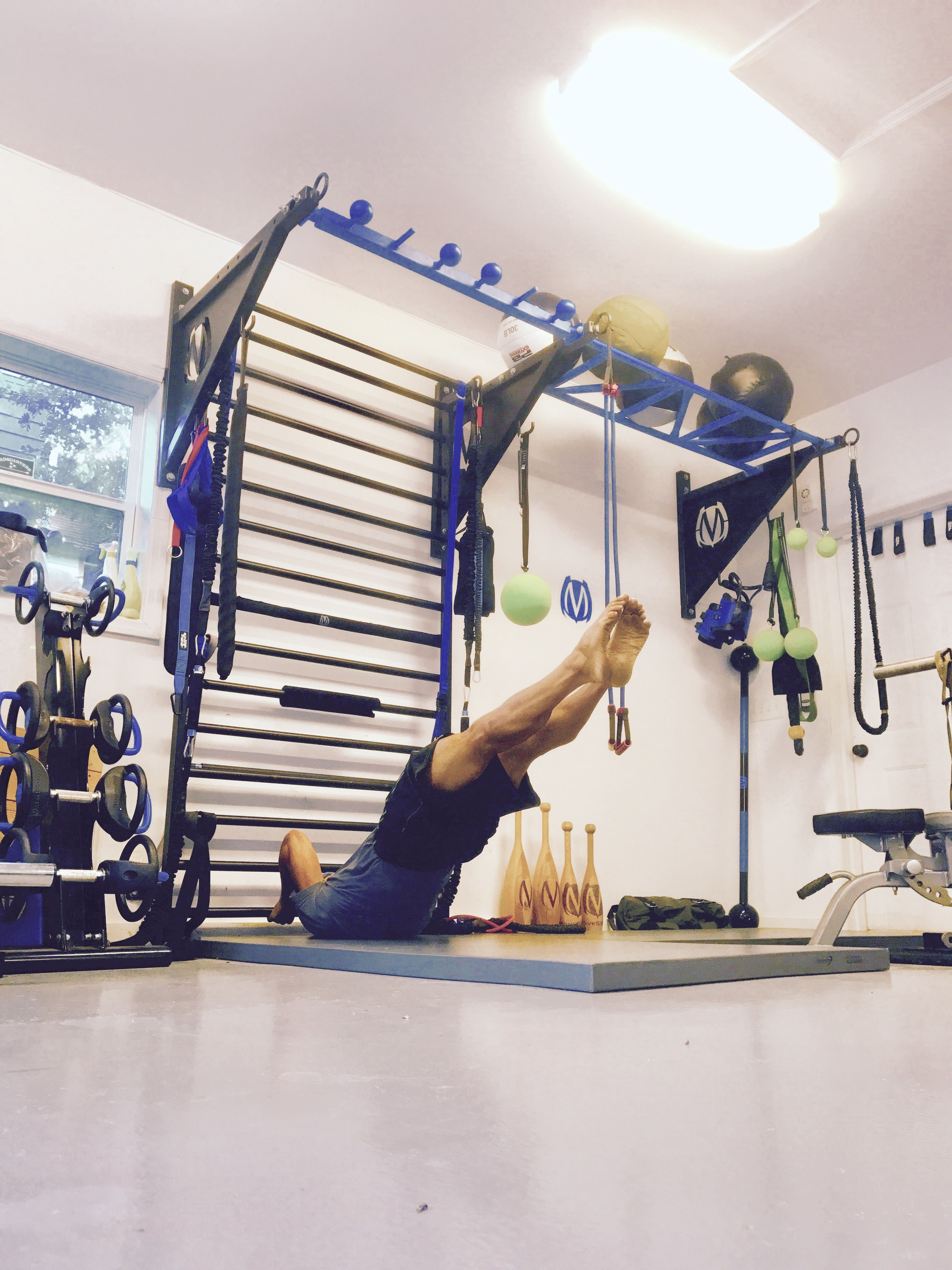 Fitnessstudio Einrichtung Dragon Flag Core Exercise Using Movestrong Stall Bars Part Of