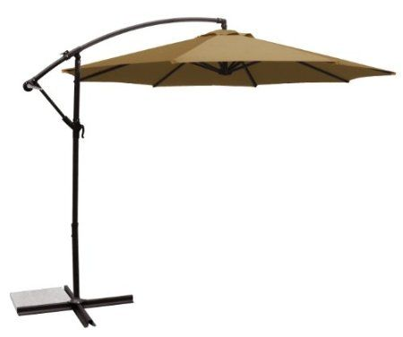 Amazon Com Ace Evert Offset Umbrella 8074 10 Ft Polyester Khaki Patio Lawn Garden 90 Offset Patio Umbrella Cantilever Patio Umbrella Patio Umbrella