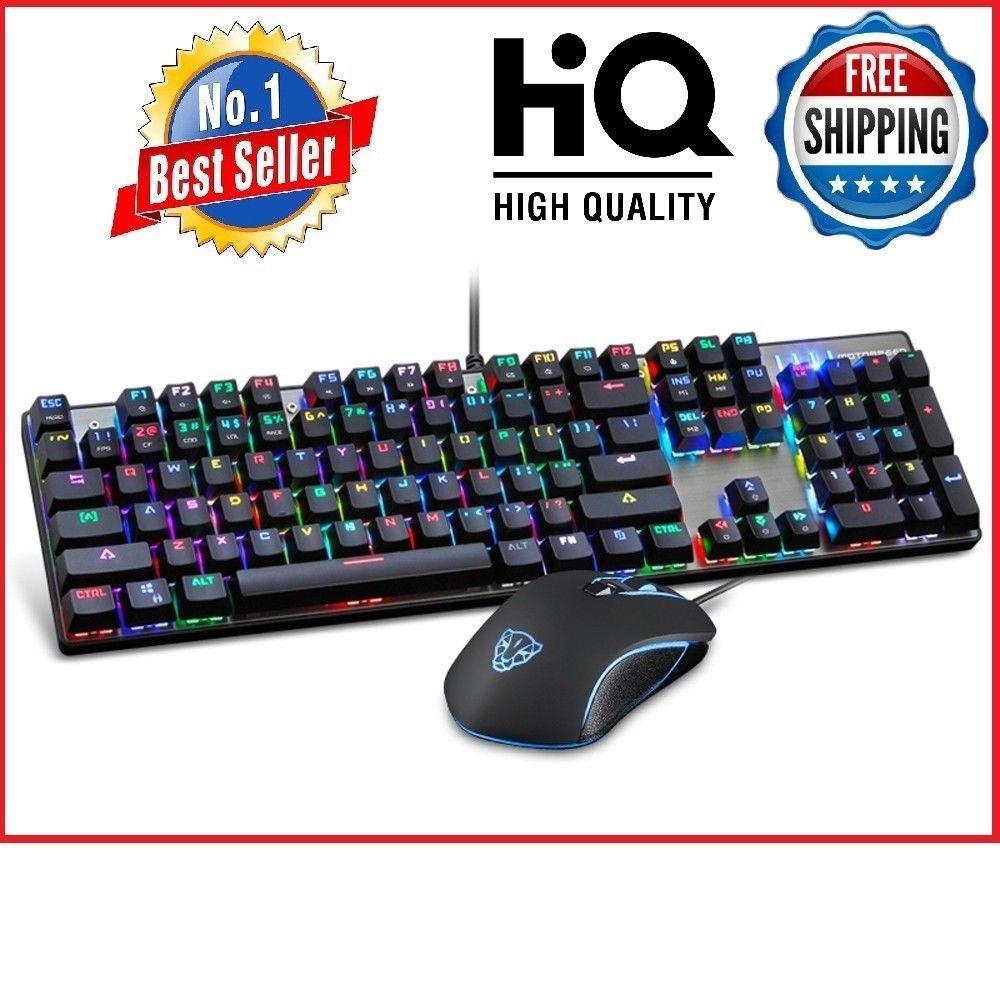 Keyboard mouse set rgb led backlight gaming mechanical