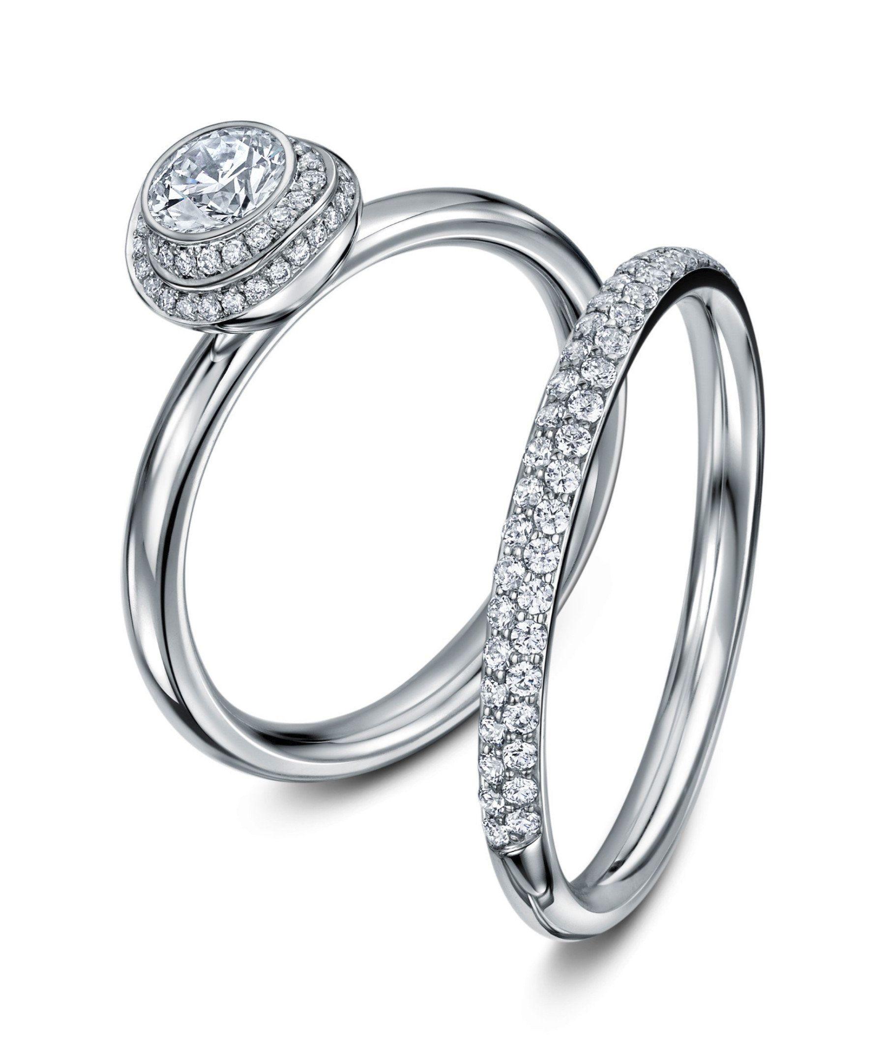 Platinum Diamond Clair De Lune Wedding Ring Platinum