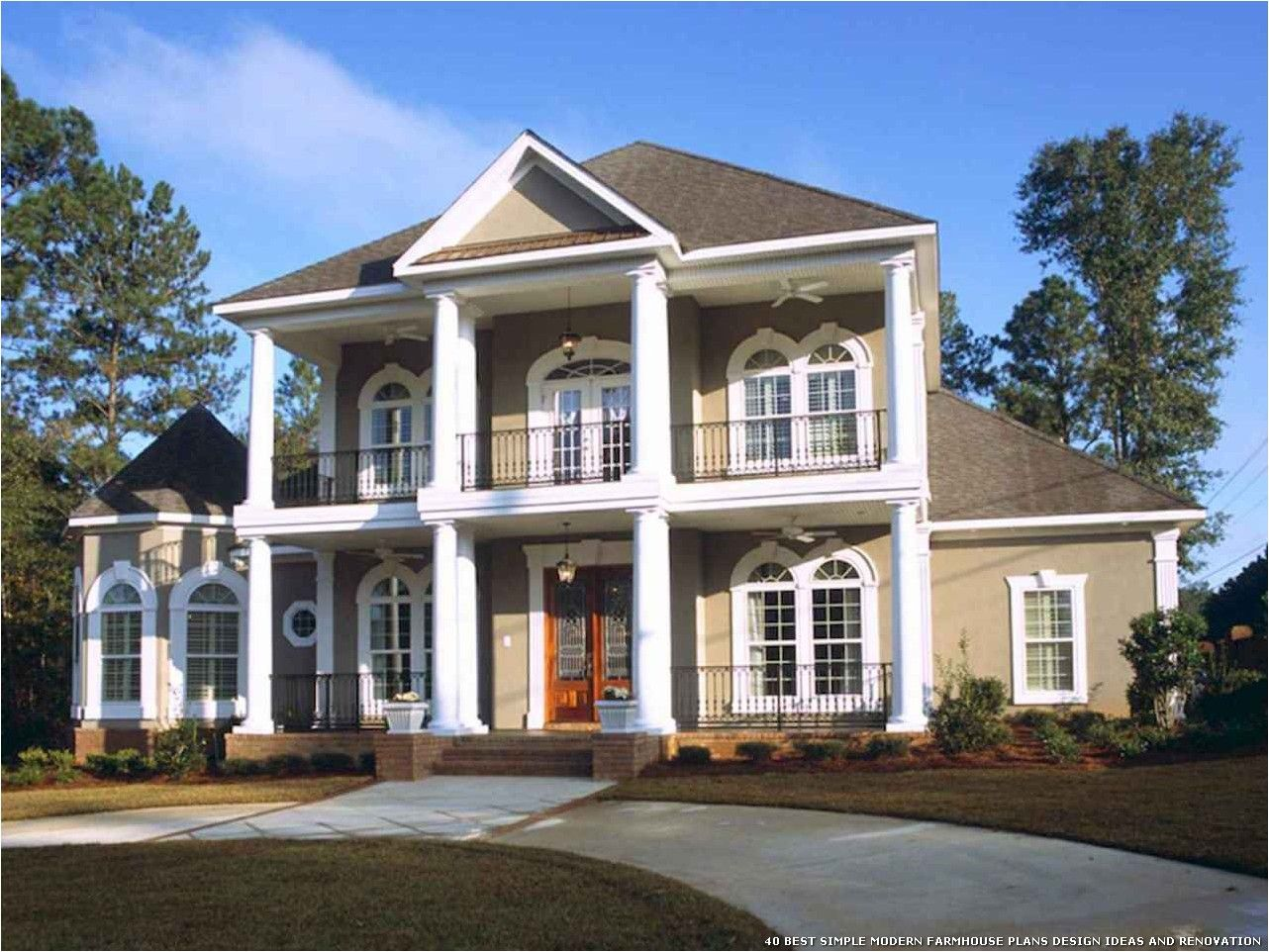 40 Best Simple Modern Farmhouse Plans Design Ideas And Renovation Colonial House Plans Southern House Plans Modern Farmhouse Plans