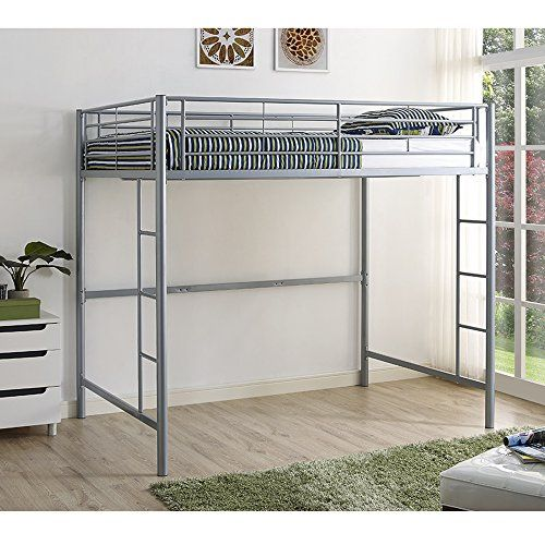 We Furniture Azdolsl Silver Metal Full Loft Bed Full Silver Check This Awesome Product By Going To The Link At Th Kids Loft Beds Bunk Bed Designs Loft Bed